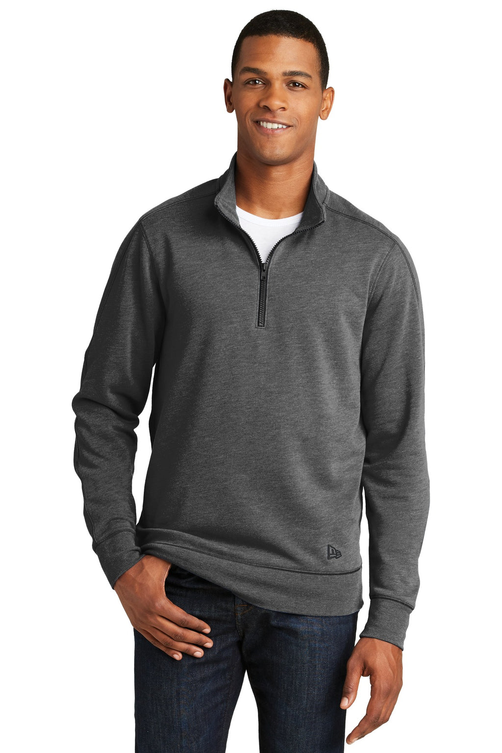 New Era ® Tri-Blend Fleece 1/4-Zip Pullover. NEA512