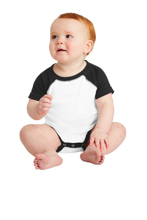 Rabbit Skins™ Infant Baseball Fine Jersey Bodysuit. RS4430