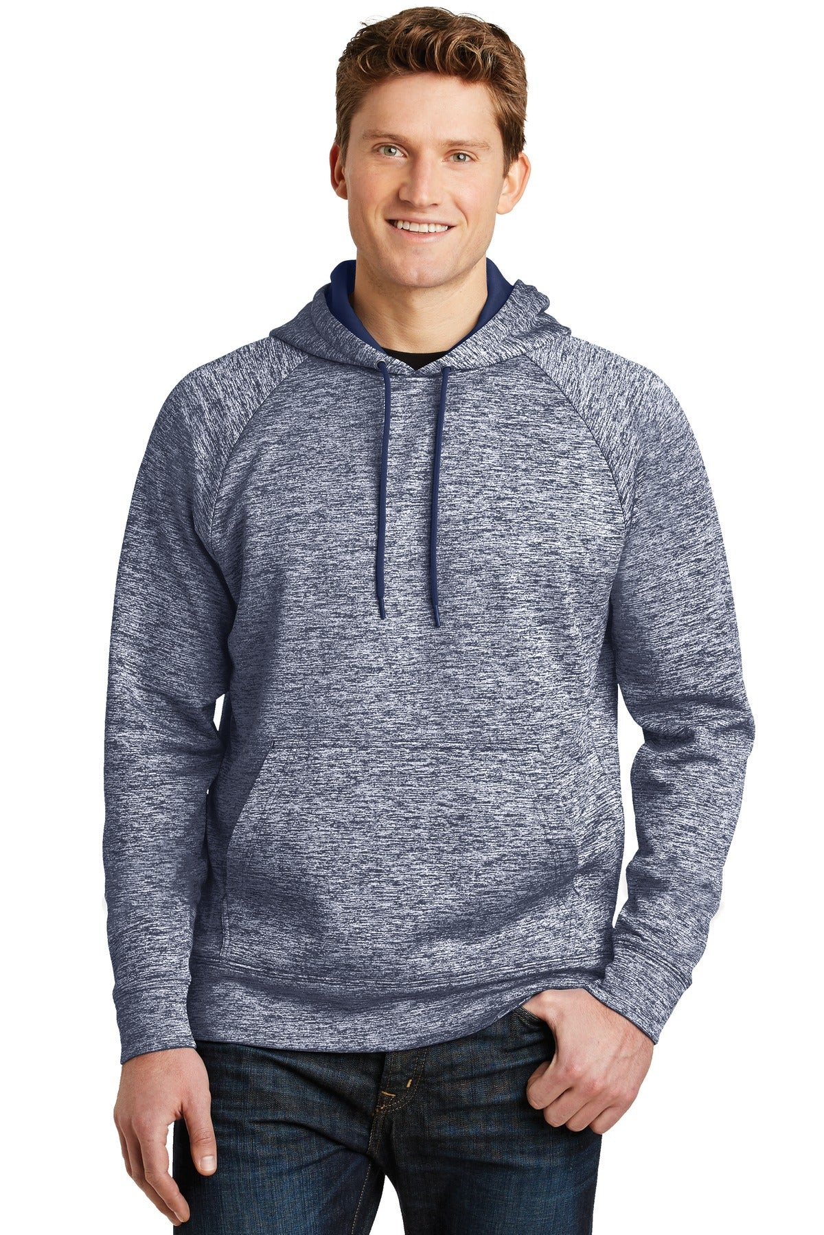 Sport-Tek® PosiCharge® Electric Heather Fleece Hooded Pullover. ST225
