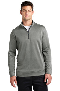 Sport-Tek ® PosiCharge ® Sport-Wick ® Heather Fleece 1/4-Zip Pullover. ST263
