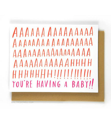 Aaaah! You're Having a Baby! Card
