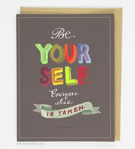 Oscar Wilde Be Yourself Card