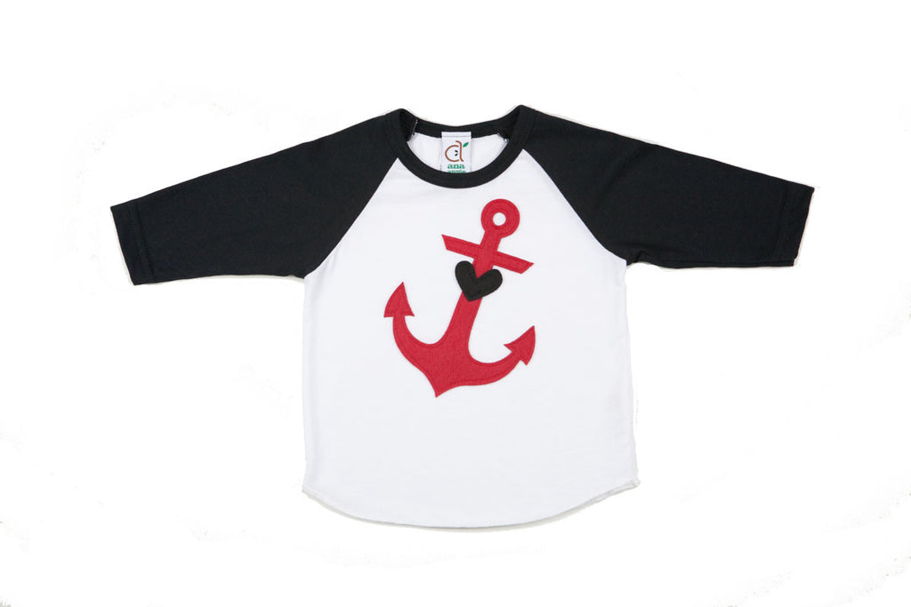 Anchors Aweigh Infant Baseball Tee