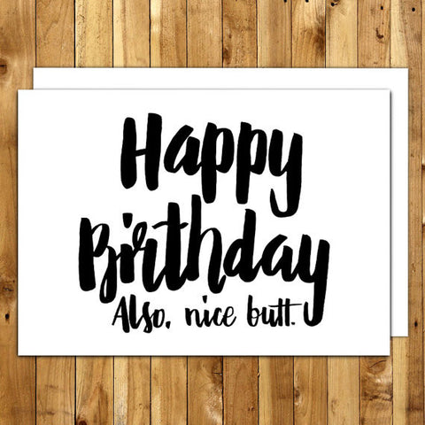 Birthday Nice Butt Card