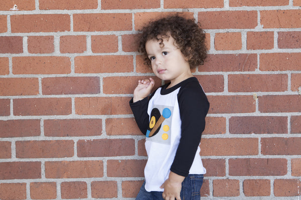 Turntable Toddler Baseball Tee
