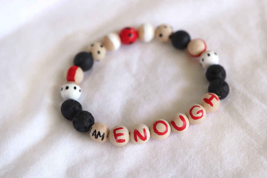I Am Enough. Affirmation Bracelet 1