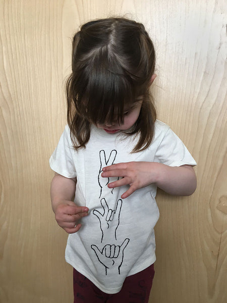 Peace Love + Shaka Toddler Tee