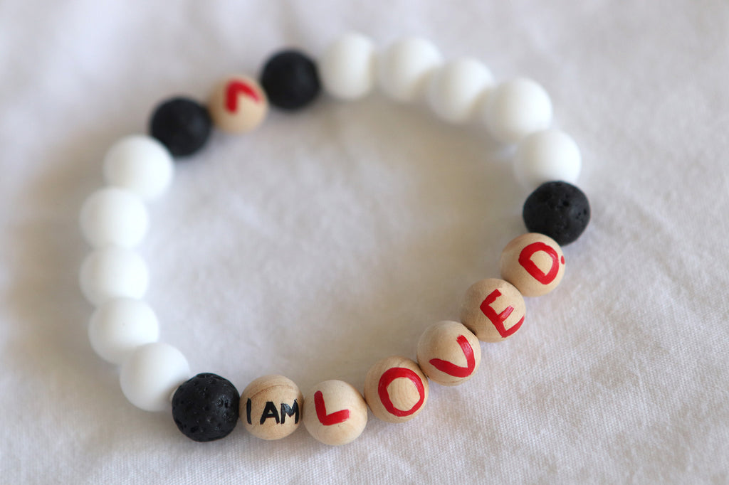 I Am Loved. Affirmation Bracelet