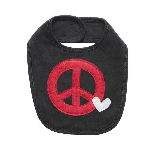 Peace and Love Bib