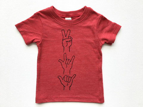 Peace Love + Shaka Infant Tee