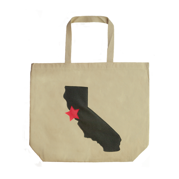 Cali Love Recycled Canvas Tote Bag