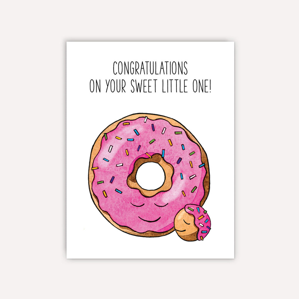 New Baby Donut Card