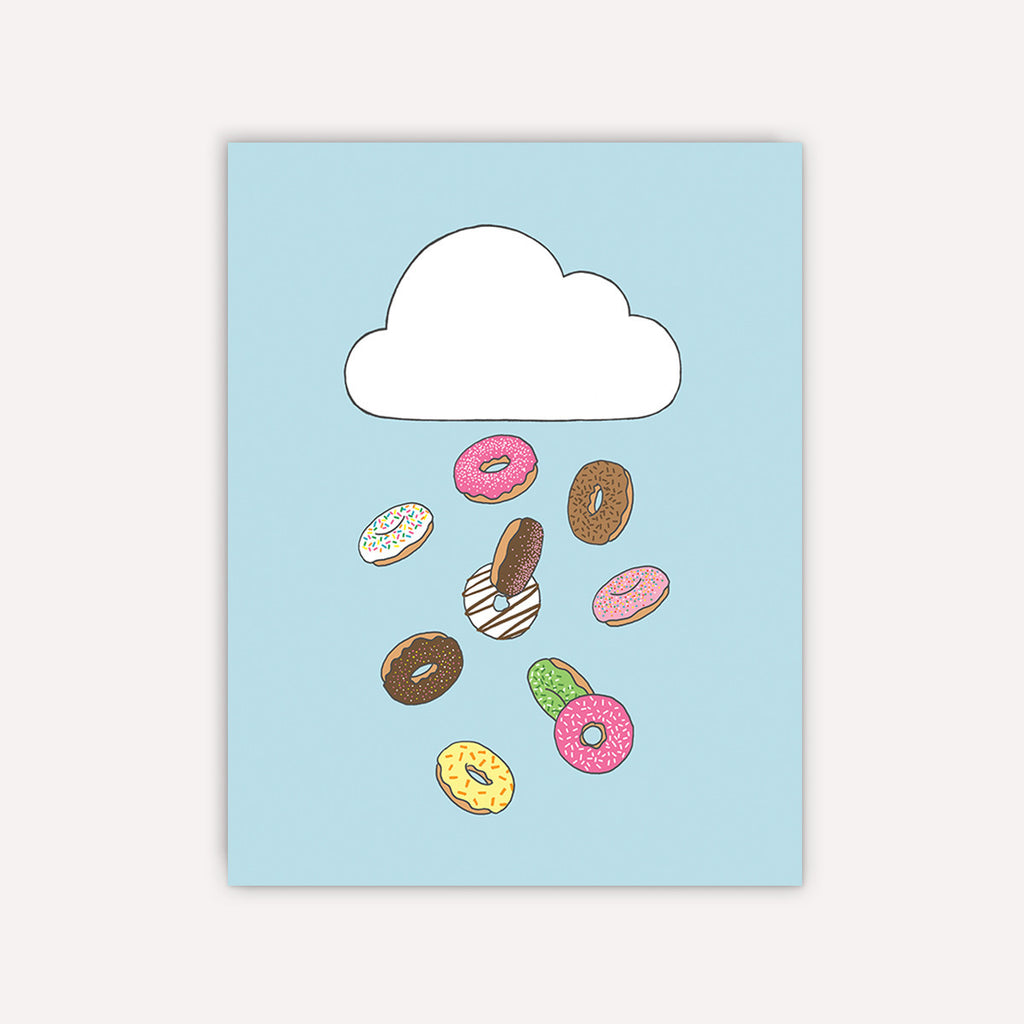 Raining Donuts Greeting Card