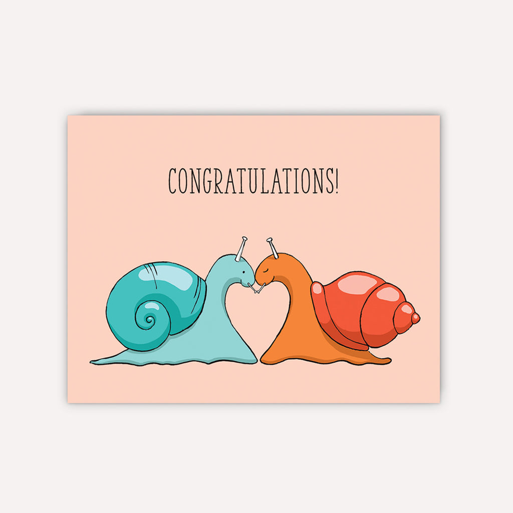 Slimy Love Congratulations Card