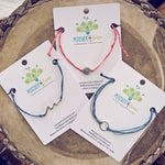 Beach break - adjustable cord surf beach bracelets - Peacock & Lime