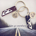 explore mountain // key ring / keychain - Peacock & Lime