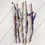 magick smoke // willow branch crystal wands - Peacock & Lime