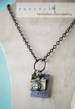 oh snap! camera photography necklace - Peacock & Lime