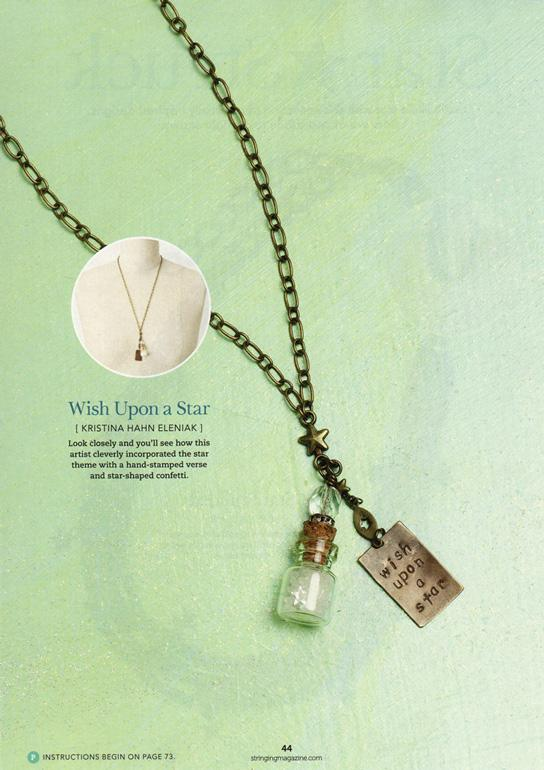 wish upon a star sparkle bottle necklace - Peacock & Lime , the original Peacock and Lime boho jewelry