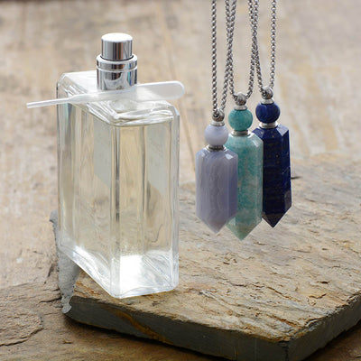 Midnight Ocean Perfume Crystal Necklace