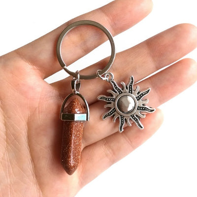 Powerful Gemstone Keychains with Charm