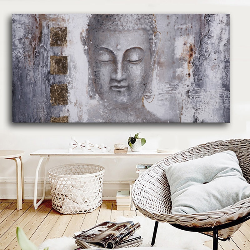 Ancient Buddha Painting Canvas