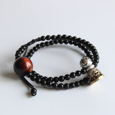 Tibetan Mala Bracelet - Clarity & Protection