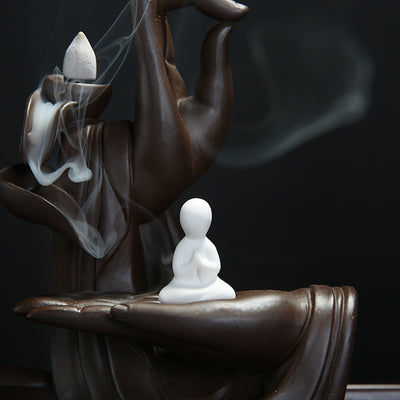 Buddha Hand Incense Burner - With 20 Free Backflow Incense Cones