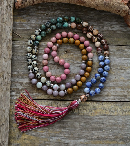 """I am Love"" - 7-Chakra Stone Necklace"