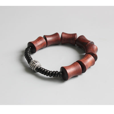 Red Sandalwood & Coconut Shell With Tibetan Mantra