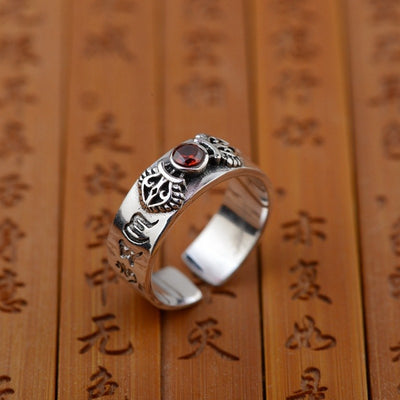Six Words Mantra Pure 925 Sterling Silver Ring
