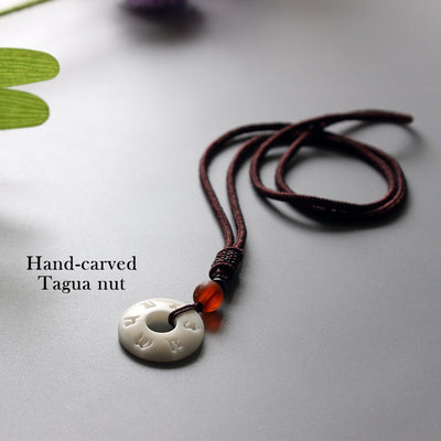 Minimal Tibetan Mantra Necklace