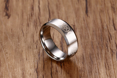 Triple Goddess Pentacle Ring - Stainless Steel Ring