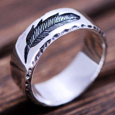 Feather Vintage Thai Silver Ring