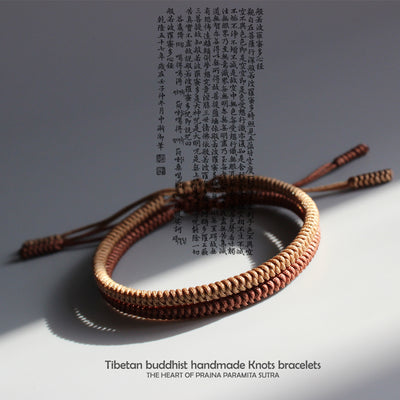 Handmade Tibetan Lucky Knots - Brown Set