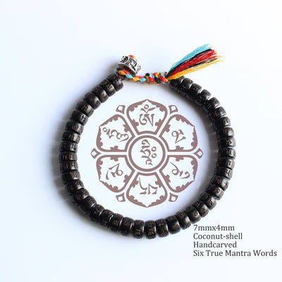 Tibetan Mantra Beads Bracelet - Clear Mind Transforming