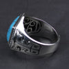 Inlaid Natural Stone - 925 Sterling Silver Ring
