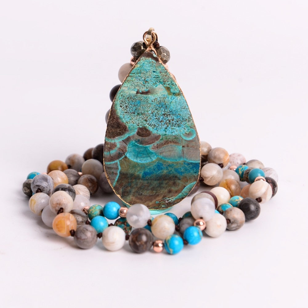 Ocean Jasper Mala Bead - Mala Necklace