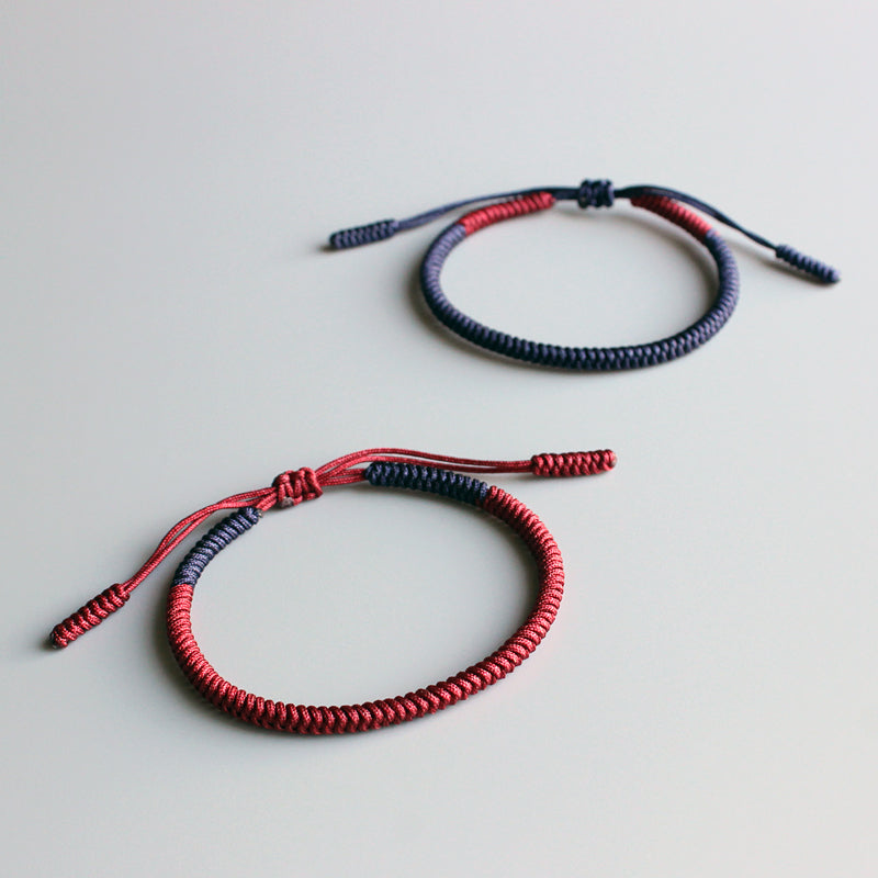 Handmade Tibetan Lucky Knots - Red & Blue