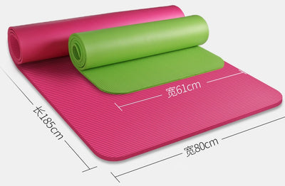NBR Yoga Mat for Beginners - 185*80cm 15mm