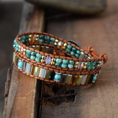Blinky African Turquoise Wrap Bracelet