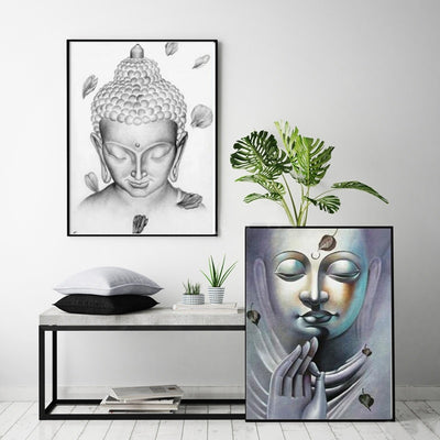 Meditation Buddha Painting Canvas