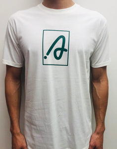 White and Green Staple [A] Tee