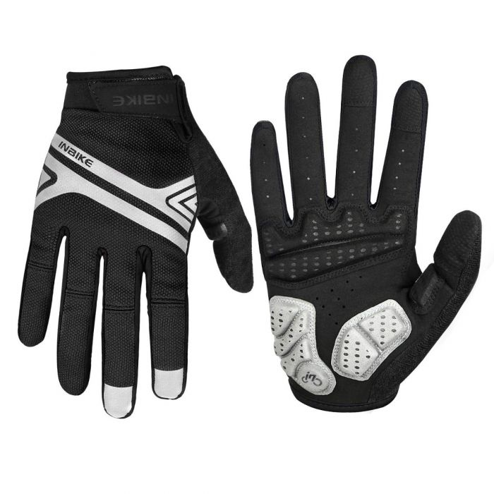 INBIKE Full Finger Bike Gloves Sale Black