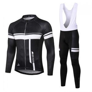 INBIKE long sleeve bike jersey with bib shorts set