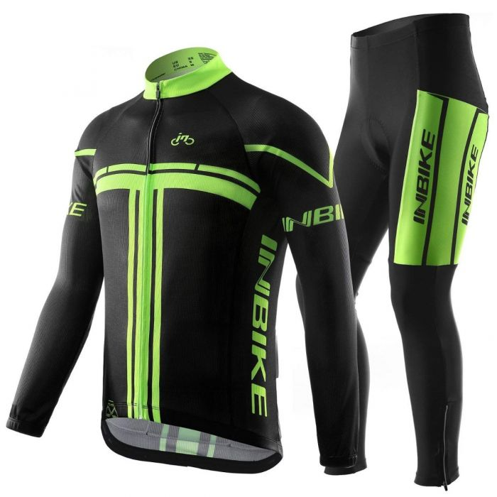INBIKE Long Sleeve Bicycle Jersey for Men Black