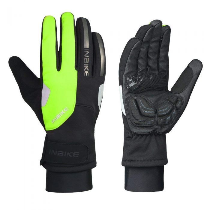 INBIKE Touch Screen Winter Bike Gloves Green