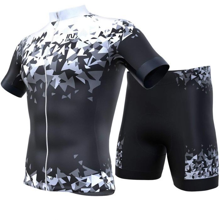INBIKE Men Short Sleeve Cycling Jersey Set White