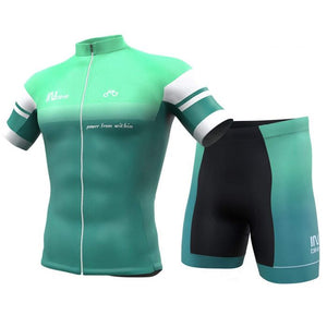 INBIKE Men Short Sleeve Cycling Jersey Set Green