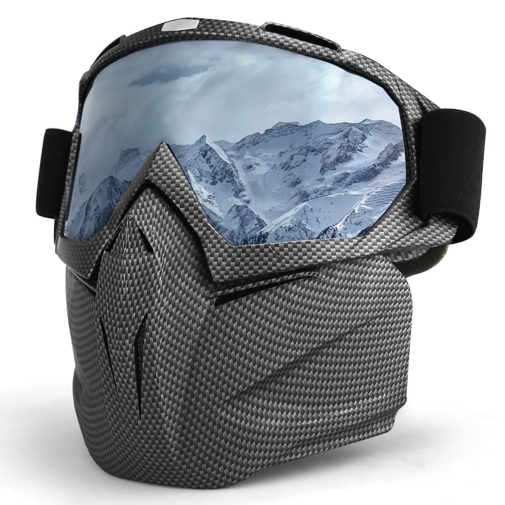 INBIKE Motorcycle/Ski Goggles with Face Mask for Winter Activities